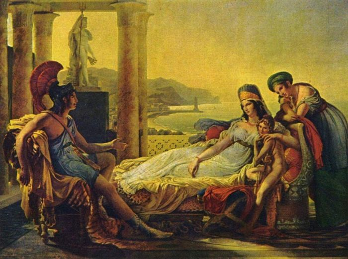 Guérin: Aeneas tells Dido the story of the fall of Troy, 1815