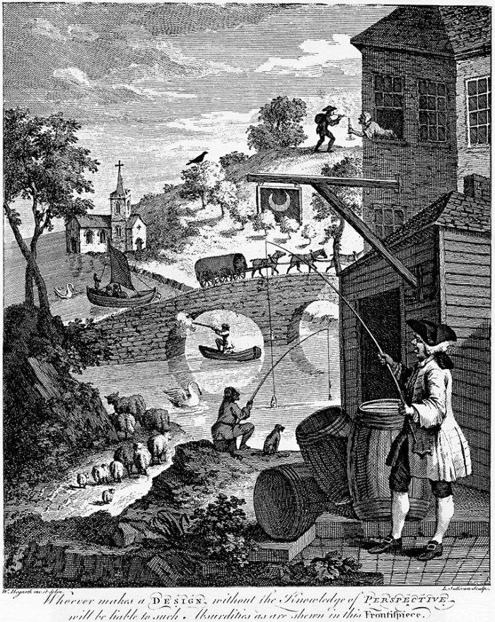 Hogarth's 'Satire on False Perspective', 1853