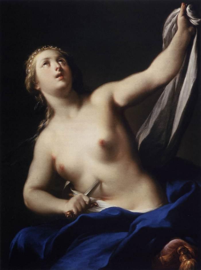 Lucretia, by Andrea Casali, c.1750