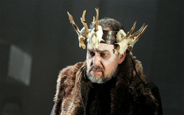 Roderick Earle as Priam in ETO's production
