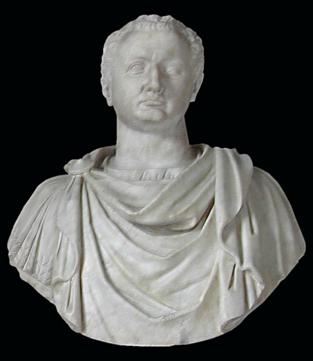 Bust of Emperor Titus, who ruled from 24 June 79 AD to 13 September 81 AD, in the Capitoline Museum, Rome.