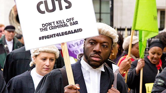 Save Legal Aid protest, Westminster, March 2014. Photo: Chris Becket (Creative Commons)