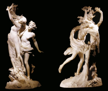 Apollo and Daphne, life-sized Baroque marble sculpture by Gian Lorenzo Bernini, executed between 1622 and 1625, Now in the Galleria Borghese